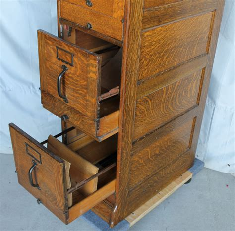 Bargain John's Antiques   Quarter sawn Oak File Cabinet