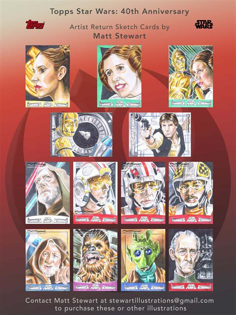 Wars 40th Anniversary Trading Cards