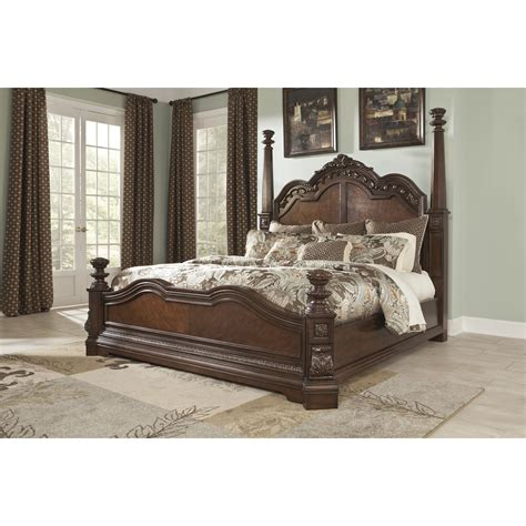 four post bedroom set signature design by ashley ledelle four poster