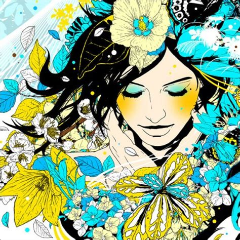 japanese pattern illustrator beauty will save viola beauty in everything
