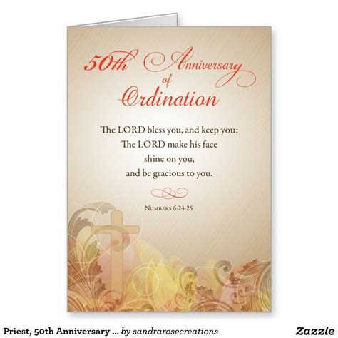 Wedding Blessing Priest priest 50th anniversary of ordination blessing card