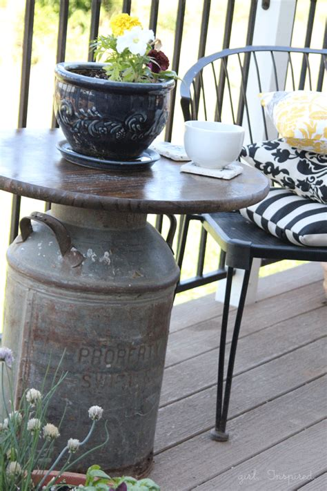 Milk Can Table by Antique Milk Can Side Table Inspired