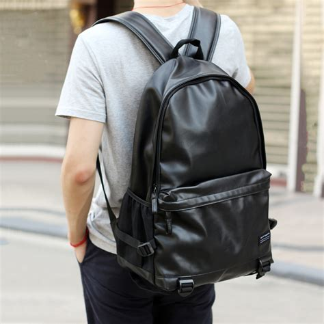 Tzeza Nise Leather Bag Tas Kulit Laptop Pria 2016 leather backpacks black school bags for teenagers