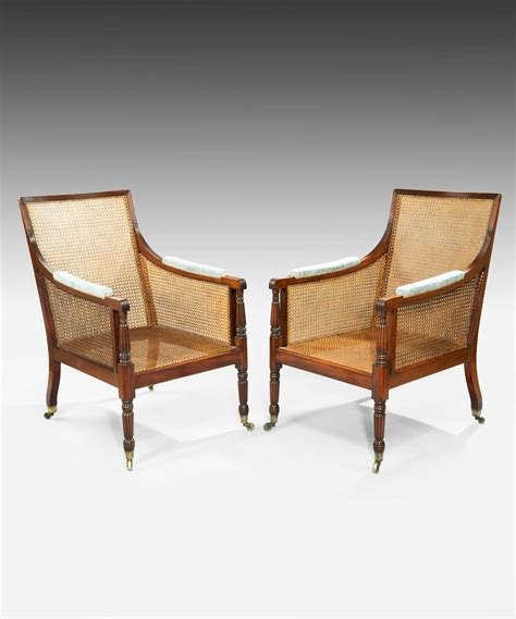 bergere armchairs pair of regency bergere armchairs for sale at 1stdibs