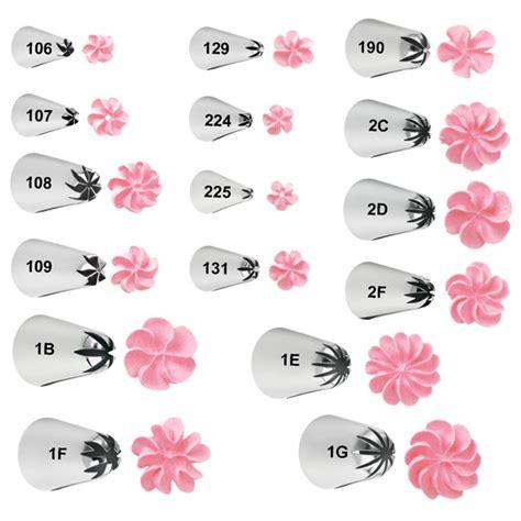 Torio Flower Drops Top Set wilton spritzt 252 lle blume 2d makeurcake
