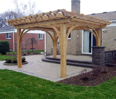 Southeastern Michigan Custom Pergolas Photo Gallery By Gm Pictures Of Pergolas On Decks