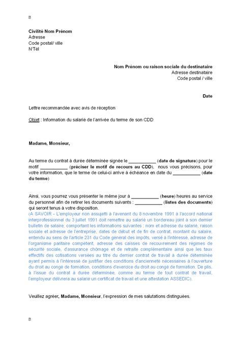 Exemple De Lettre De Démission Cdd Pdf Letter Of Application Modele De Lettre De Fin De Contrat