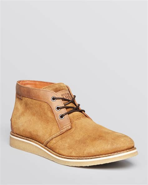 suede chukka boots wolverine julian suede chukka boots in brown for lyst