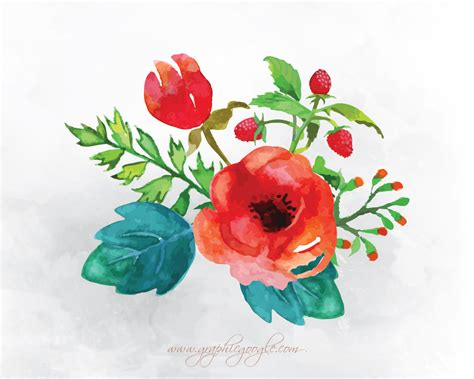 free vector 9 free watercolor flower vectors for designers