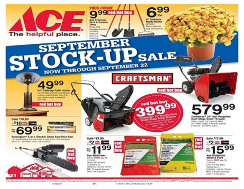 ace hardware flyer ace hardware september red hot buys