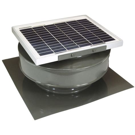solar powered exhaust fan active ventilation 365 cfm weatherwood powder coated 5