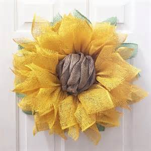 Burlap Sunflower Wreath Sunflower Wreath Sunflower Burlap Wreath Burlap Sunflower
