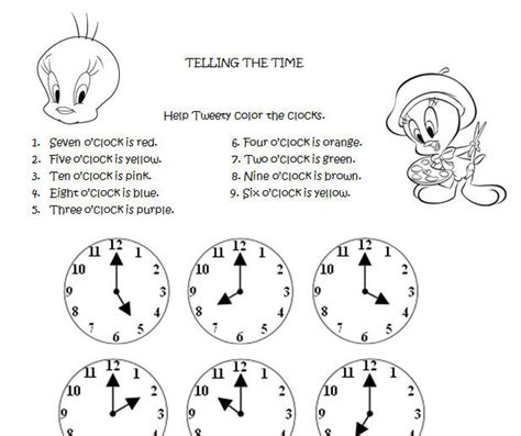 Time To Tell The telling the time