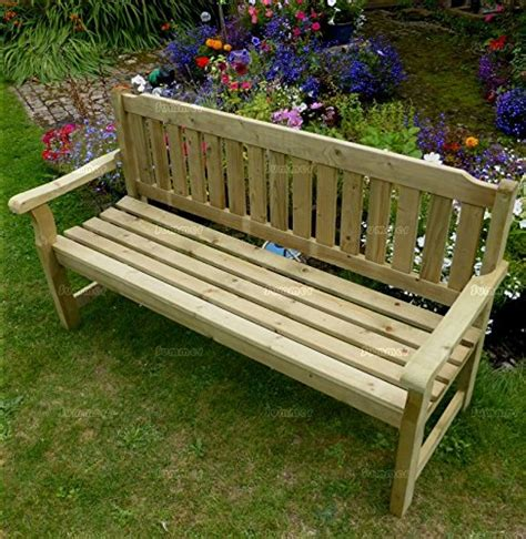 5ft garden bench 5ft wide 3 seater wooden bench pressure treated fast