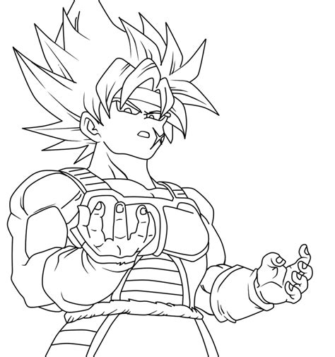 dragon ball z coloring pages bardock bardock lineart by theshinso on deviantart