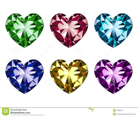heart shaped clipart gem pencil and in color heart