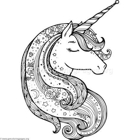 unicorn mandala coloring pages zentangle unicorn coloring pages getcoloringpages org