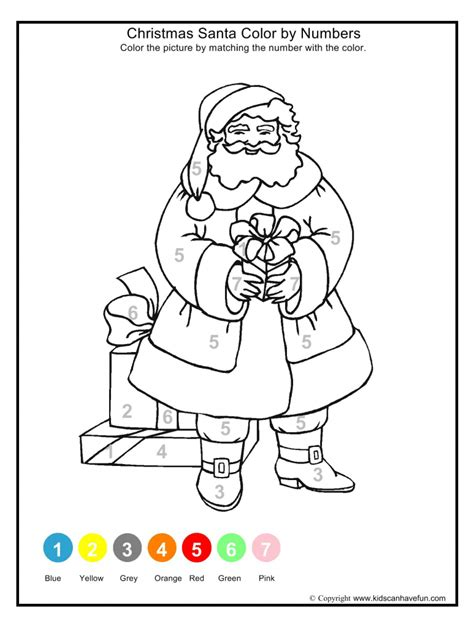 santa math coloring pages school worksheets