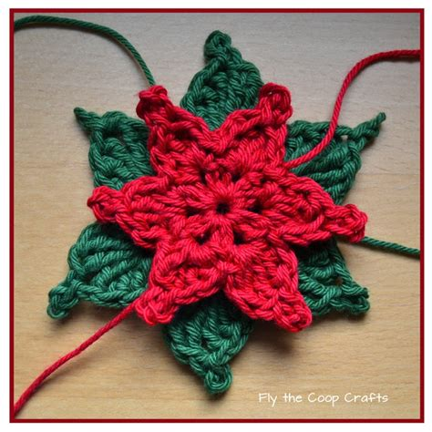 pattern crochet poinsettia fly the coop crafts poinsettias a crochet tutorial