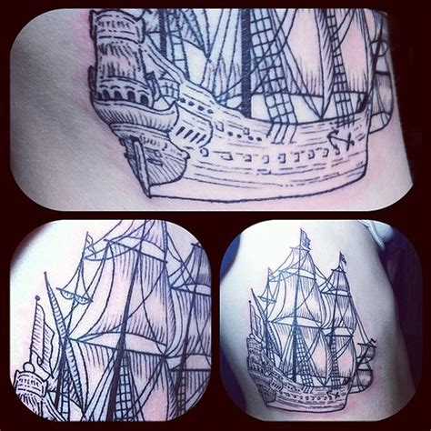 tattoo etching pattern tiny little ship etching tattoo the stencil was only 4