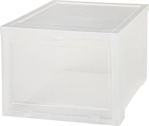 iris drop front shoe box iris small drop front shoe box clear easy home organizer