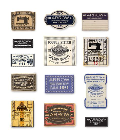 Arrow Cluett Labels And Packaging By Glenn Wolk Via | logotypes archives graphic art news