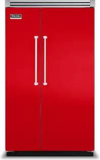 48 quot fully integrated side by side refrigerator racing red modern