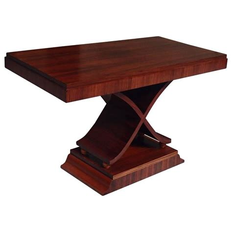 X Leg Side Table Deco Large Console Side Table X Leg Shape Rosewood For Sale At 1stdibs