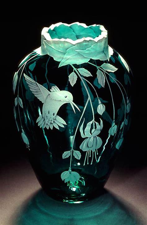Hummingbird Vase by Fuchsias And Hummingbirds The Shape Of This Vase Has