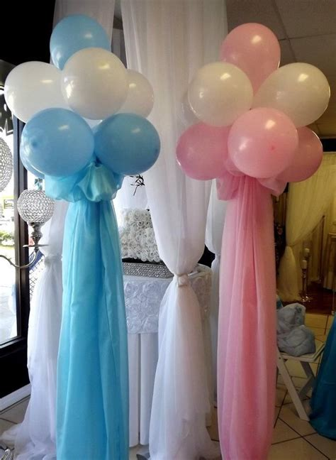 baby shower balloons balloon bouquets pink blue baby