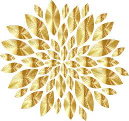 Gold flowers clipart clipartfest