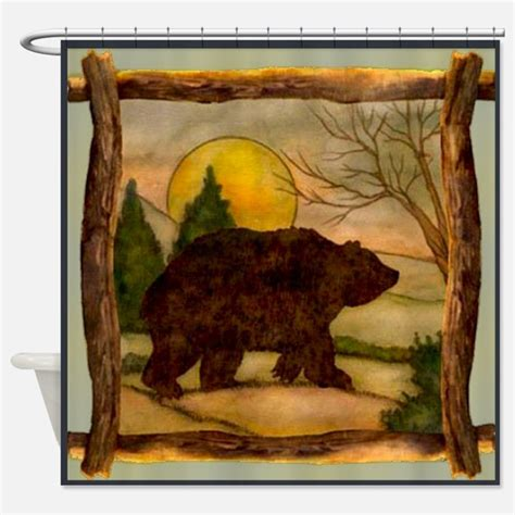 bears shower curtain black bear shower curtains black bear fabric shower