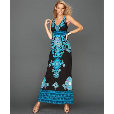 Bangkok Maxi Dress Hq inc international concepts sleeveless paisley print maxi in blue bangkok medallion lyst