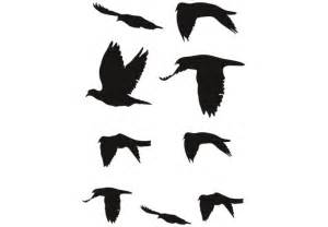 Black Bird Wall Stickers flock of birds silhouette clipart best