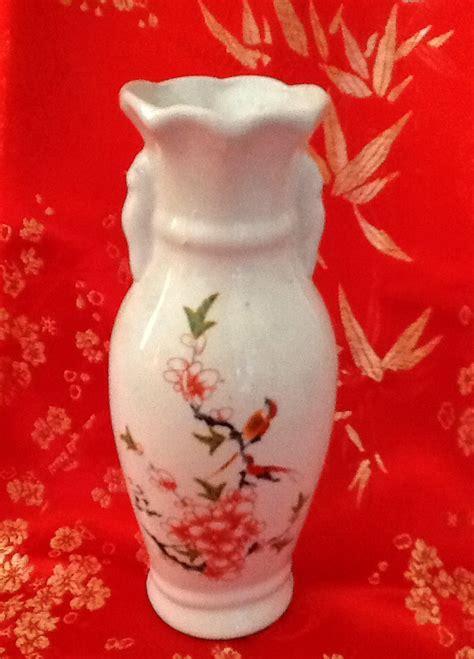 vas bunga segi delapan keramik jual vas bunga motif cherry blossom dan burung dari