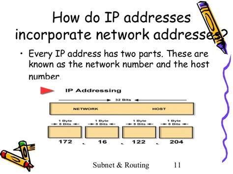 ip address sections subnetting and routing