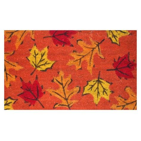 fall leaves coir with vinyl backing doormat 17 inches x