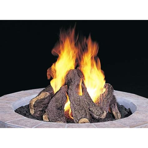 pits ideas simple ceramic logs for gas
