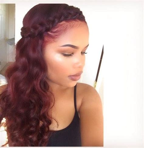 hair and beauty on pinterest sew ins kinky curly and kelly rowland best ideas about burgundy hair weave sew ins burgundy