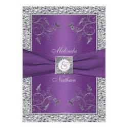 printed ribbon purple silver wedding invitation 5 quot x 7 quot invitation card zazzle