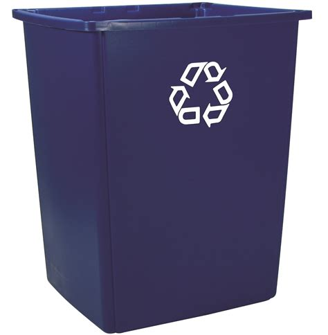 trash storage containers blue rubbermaid glutton recycling container 56 gallons