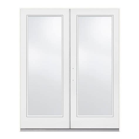 Patio Doors 60 X 72 Jeld Wen 72 In X 80 In Primed White Right Outswing