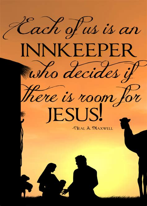 there is room for each of us is an innkeeper who decides if there is room for jesus free wall print happy