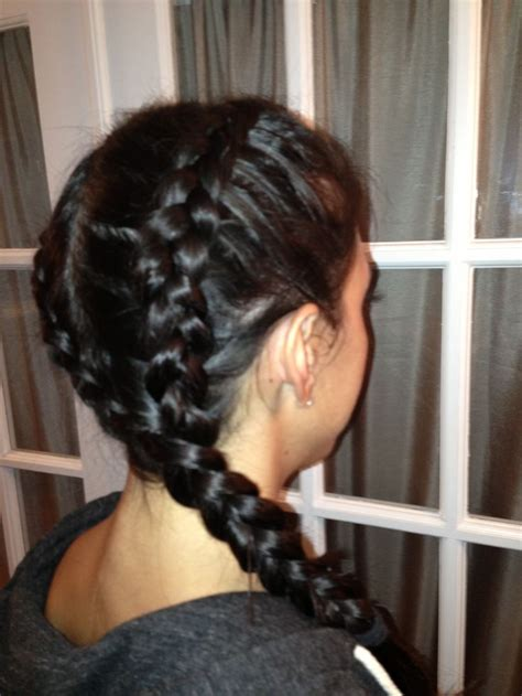 two dutch braids hairstyles two dutch braids forming one side braid badass braids