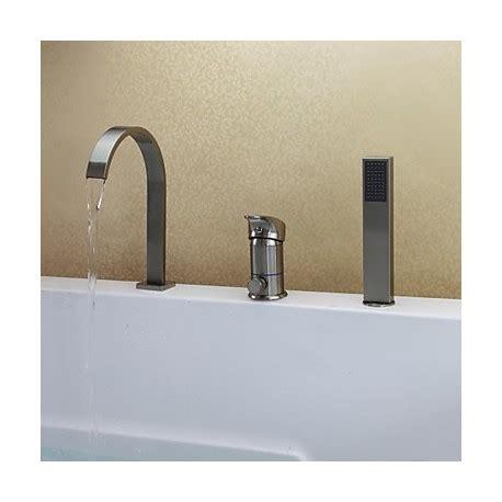 robinets baignoire nickel bross 233 contemporain trois trous mitigeur baignoire