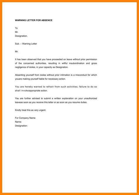 6 7 warning letter sle resumesheets