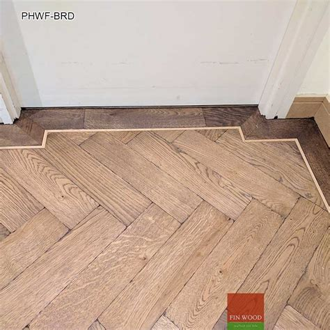 Floor Border by Parquet Herringbone Wood Flooring With Border