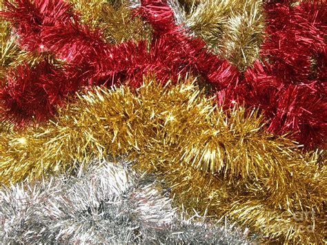 christmas tinsel photograph by deborah brewer