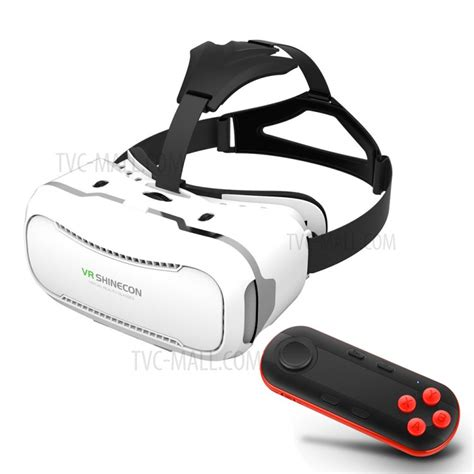 Vr Shinecon 30 Reality 3d Box Bluetooth Gamepad shinecon 2 0 3d reality vr box with wireless bluetooth remote controller white vr box