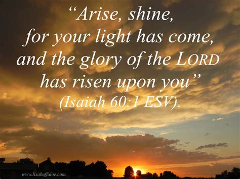 When The Light Has Come by On Him As We Arise And Shine This Day With God